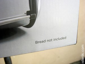 Bread not included