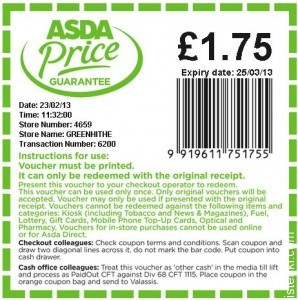 Asda price guarantee voucher