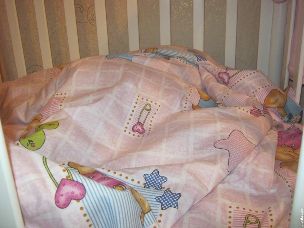 Узор на детском одеяле