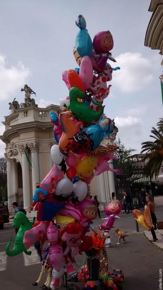 Надувные шарики с героями мультфильмов