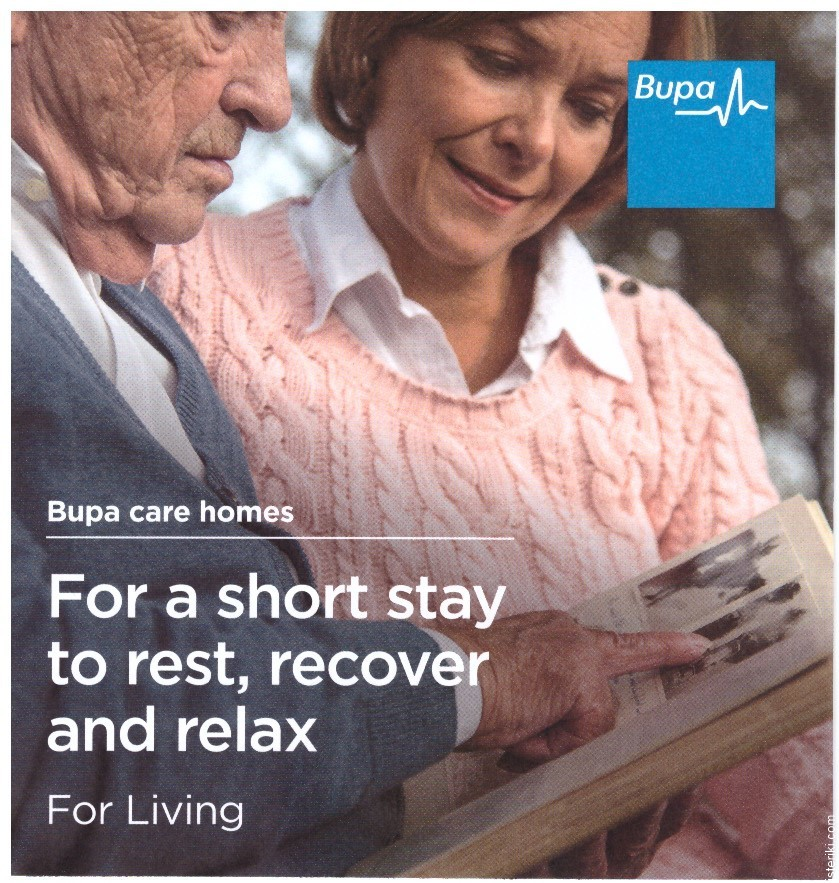 Bupa care homes advert